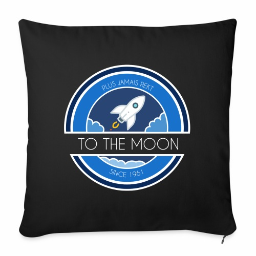 CryptoLoco - To the MOON ! - Housse de coussin décorative 45 x 45 cm