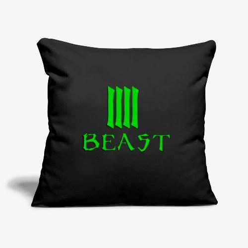 Beast Green - Sofa pillowcase 17,3'' x 17,3'' (45 x 45 cm)