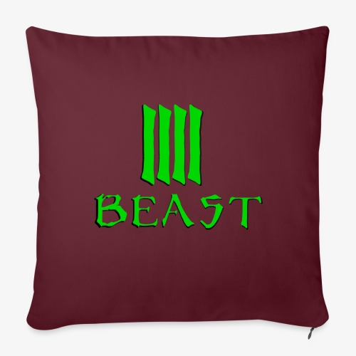 Beast Green - Sofa pillowcase 17,3'' x 17,3'' (45 x 45 cm)