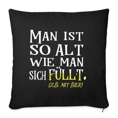 Alt Spruch Biertrinker Geburtstag Geschenk - Sofakissenbezug 44 x 44 cm