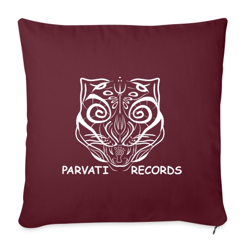 Parvati Cat logo, white - Sofa pillowcase 17,3'' x 17,3'' (45 x 45 cm)