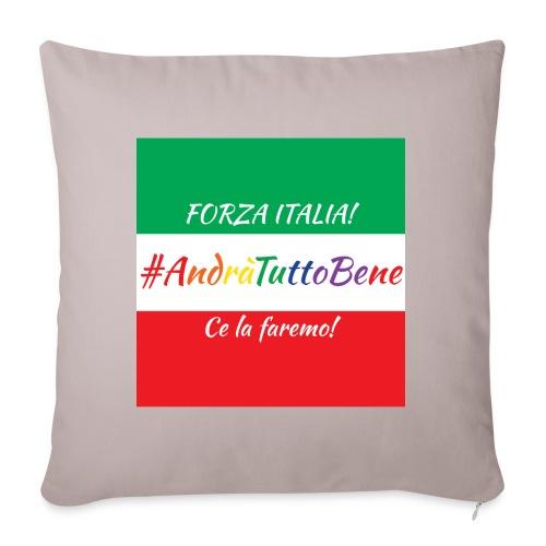 Andrà Tutto Bene su Bandiera Italiana - Copricuscino per divano, 45 x 45 cm