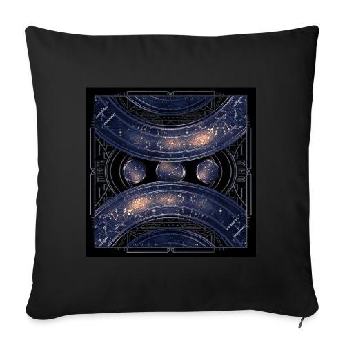 Universe outer space blue outer space galaxy art - Sofa pillowcase 17,3'' x 17,3'' (45 x 45 cm)
