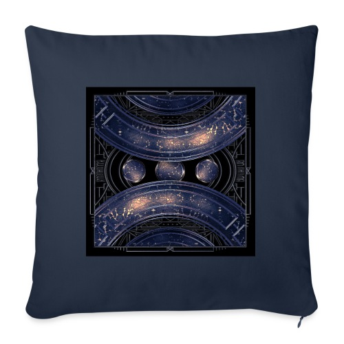 Out of the blue - universe universe - Sofa pillowcase 17,3'' x 17,3'' (45 x 45 cm)