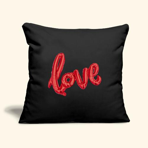 Love Balloons - Ballon love - St Valentin - Housse de coussin décorative 45x 45cm