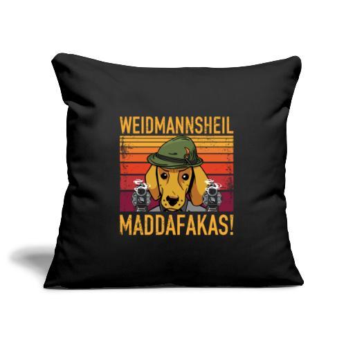 Weidmannsheil Maddafakas! Dackel Jäger Vintage fun - Sofakissenbezug 44 x 44 cm