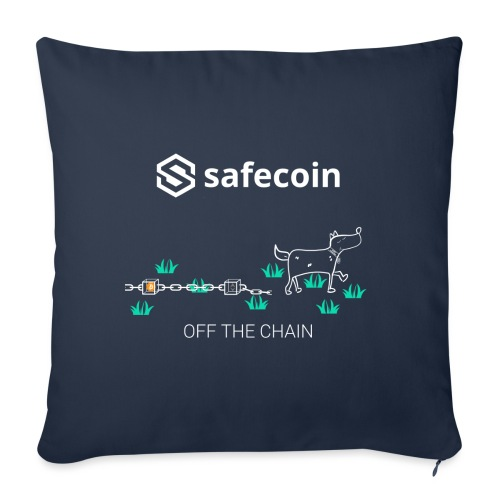 Dogey Chainfree - Off the Chain (White) - Sofa pillowcase 17,3'' x 17,3'' (45 x 45 cm)