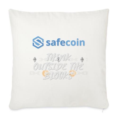 SafeCoin; Think Outside the Blocks (blue + white) - Sofa pillowcase 17,3'' x 17,3'' (45 x 45 cm)