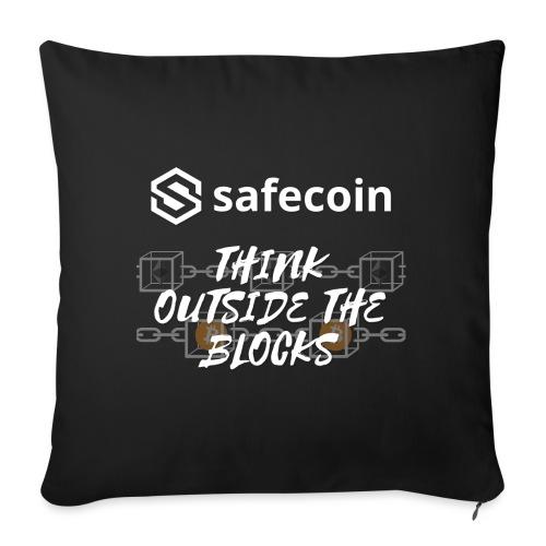 Safecoin Think Outside the Blocks (white) - Sofa pillowcase 17,3'' x 17,3'' (45 x 45 cm)