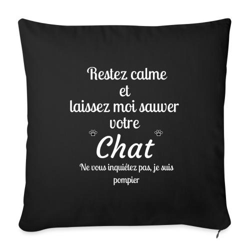 Restez calme sauver chat pompier - Housse de coussin décorative 45x 45cm