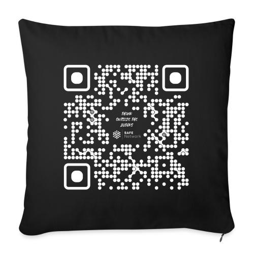 QR The New Internet Should not Be Blockchain Based W - Sofa pillowcase 17,3'' x 17,3'' (45 x 45 cm)