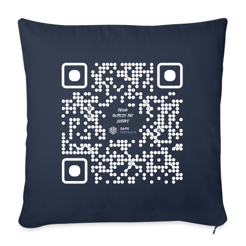 QR The New Internet Should not Be Blockchain Based W - Sofa pillowcase 17,3'' x 17,3'' (45 x 45 cm)