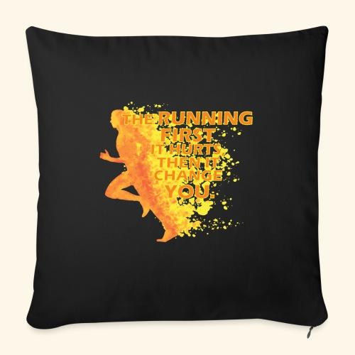Motivo _ The Running First it Hurts - Copricuscino per divano, 45 x 45 cm