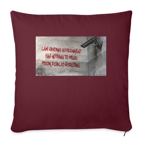 Nothing to Fear - Sofa pillowcase 17,3'' x 17,3'' (45 x 45 cm)