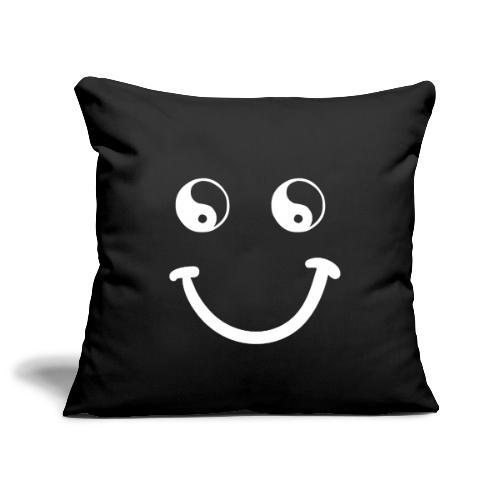 sorriso yoga hippie arte campeggio amore pace - Copricuscino per divano, 45 x 45 cm