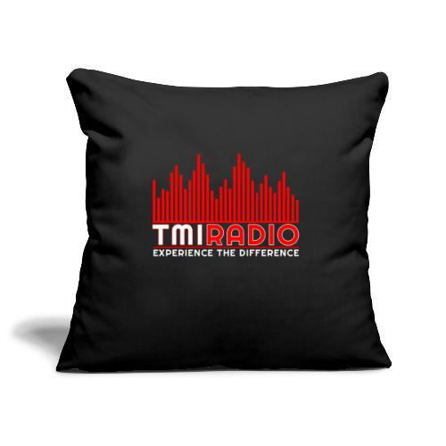 NEW TMI LOGO RED AND WHITE 2000 - Sofa pillowcase 17,3'' x 17,3'' (45 x 45 cm)