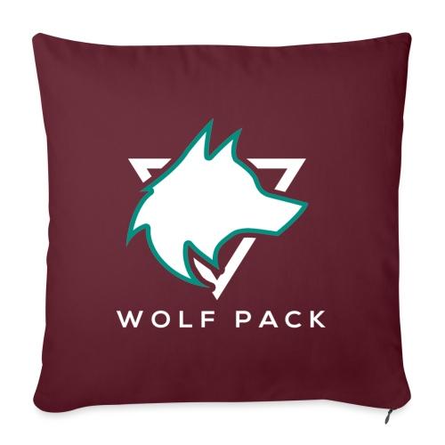 Wolf Pack Logo (NEW) - Sofa pillowcase 17,3'' x 17,3'' (45 x 45 cm)