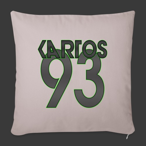 KarToS_Logo - Sofakissenbezug 44 x 44 cm