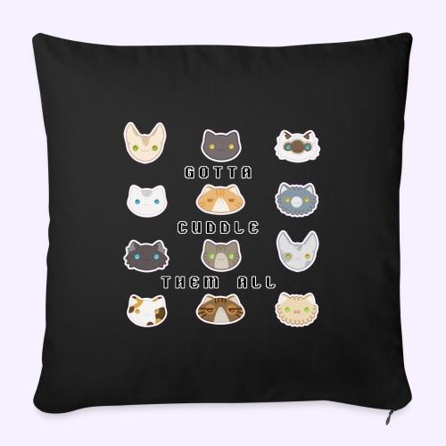 All the Cats - Copricuscino per divano, 45 x 45 cm