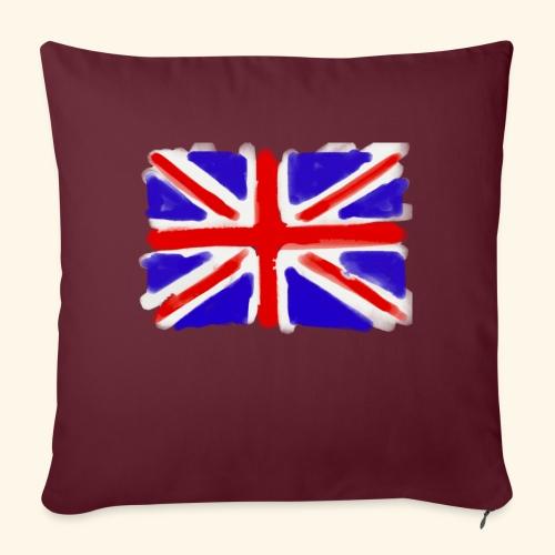 British flag in watercolours - Soffkuddsöverdrag, 45 x 45 cm