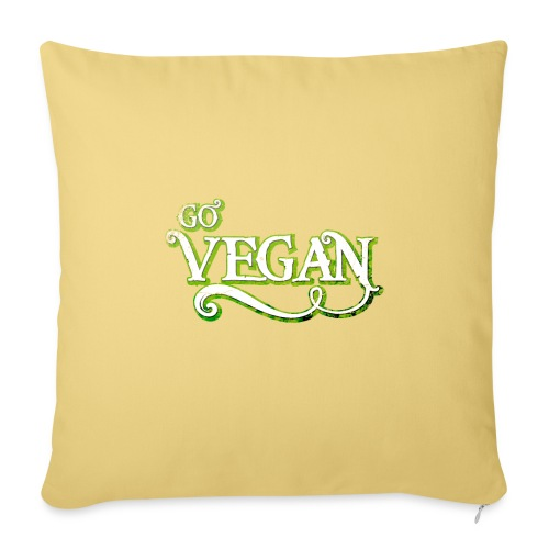GO VEGAN - Sofa pillowcase 17,3'' x 17,3'' (45 x 45 cm)