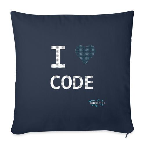 I <3 code - Housse de coussin décorative 45x 45cm