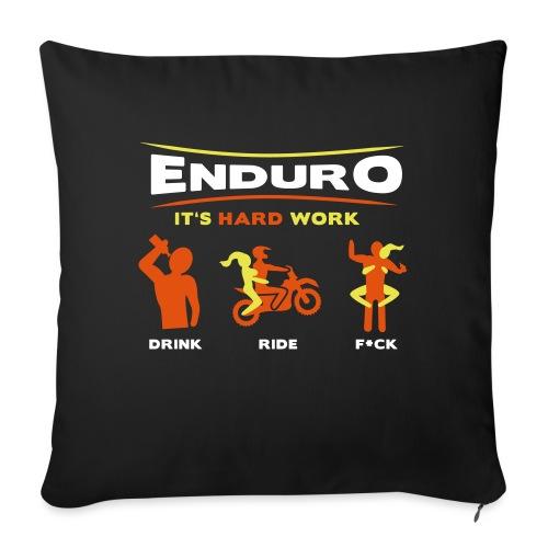 Enduro - It's hard work BlackShirt - Sofakissenbezug 44 x 44 cm