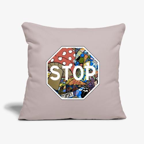 panneau stop pidraw - Housse de coussin décorative 45x 45cm
