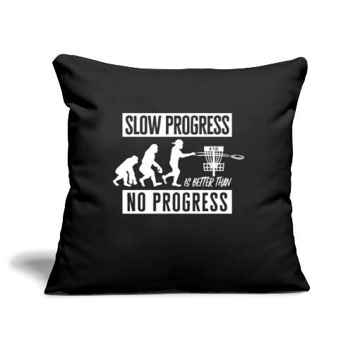 Disc golf - Slow progress - White - Sohvatyynyn päällinen 45 x 45 cm