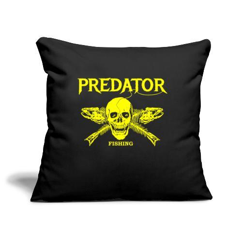 Predator fishing yellow - Sofakissenbezug 44 x 44 cm