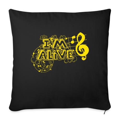 i m alive geel png - Sierkussenhoes, 45 x 45 cm