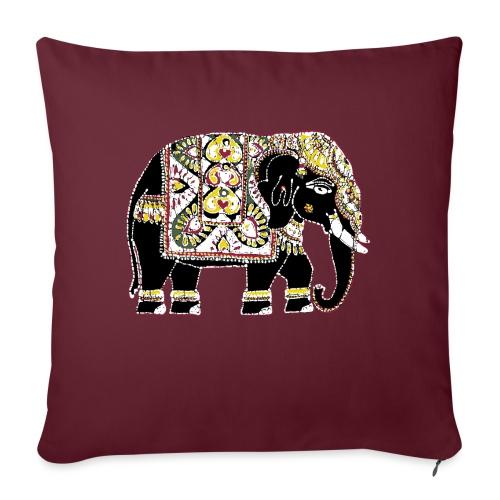 Indian elephant for luck - Sofa pillowcase 17,3'' x 17,3'' (45 x 45 cm)