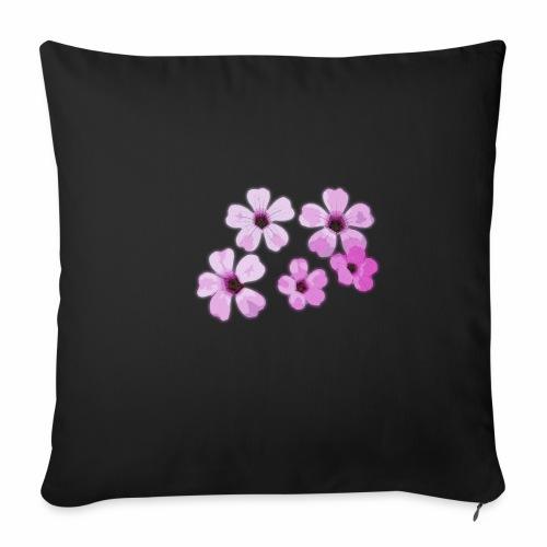 Blumen violett - Sofakissenbezug 44 x 44 cm