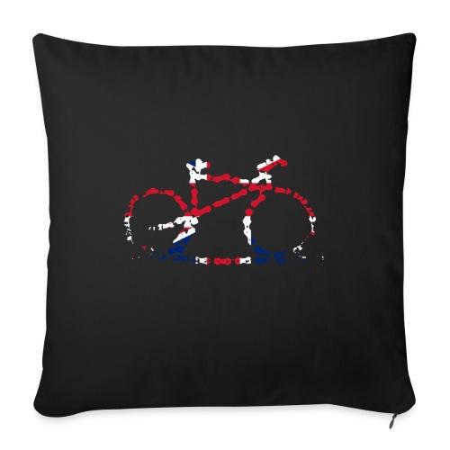 GB Cycling Chain Print - Sofa pillowcase 17,3'' x 17,3'' (45 x 45 cm)
