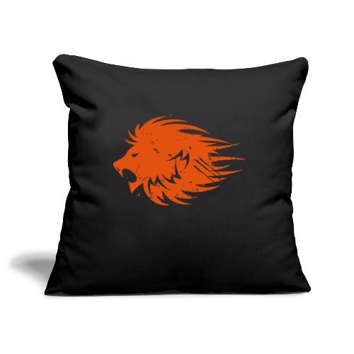 MWB Print Lion Orange - Sofa pillowcase 17,3'' x 17,3'' (45 x 45 cm)