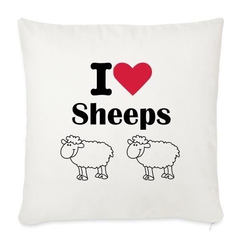 I-love-sheeps - Housse de coussin décorative 45x 45cm