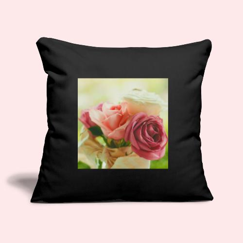 pink roses fl sq jpg - Sofa pillowcase 17,3'' x 17,3'' (45 x 45 cm)