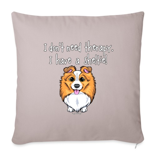 Sheltie Dog Therapy 2 - Sofa pillowcase 17,3'' x 17,3'' (45 x 45 cm)