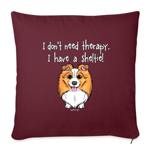 Sheltie Dog Therapy 2 - Sofa pillowcase 17,3'' x 17,3'' (45 x 45 cm)