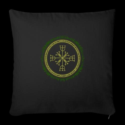 Norse Runes with Aegishjalmur 2017 - Sofa pillowcase 17,3'' x 17,3'' (45 x 45 cm)