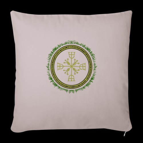 Norse Runes with Aegishjalmur 2017 - Sofa pillowcase 17,3'' x 17,3'' (45 x 45 cm)