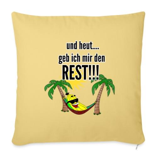 und heut... geb ich mir den Rest - Party Banane - Sofa pillowcase 17,3'' x 17,3'' (45 x 45 cm)