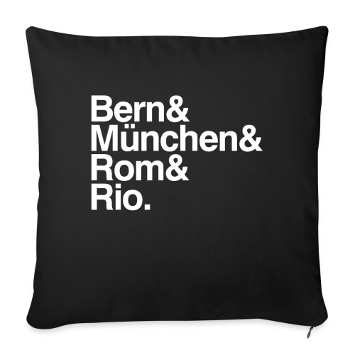 bern&münchen&rom&rio. - Sofakissenbezug 44 x 44 cm