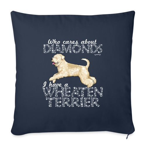 Wheaten Terrier Diamonds 4 - Sofa pillowcase 17,3'' x 17,3'' (45 x 45 cm)