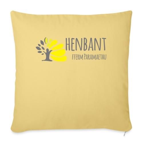 henbant logo - Sofa pillowcase 17,3'' x 17,3'' (45 x 45 cm)