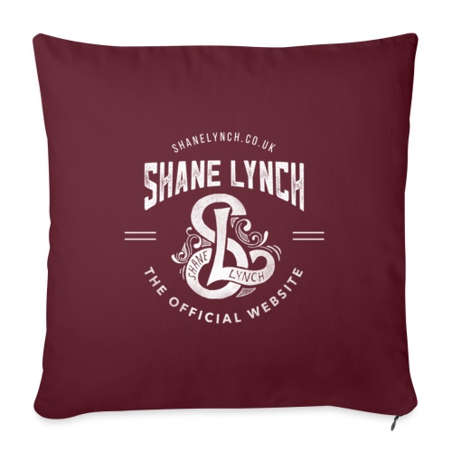 White - Shane Lynch Logo - Sofa pillowcase 17,3'' x 17,3'' (45 x 45 cm)