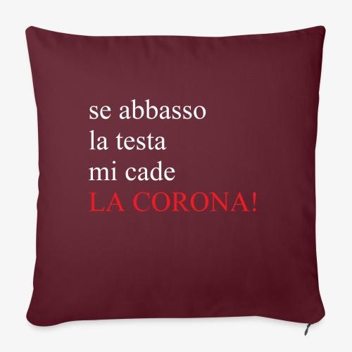 LA CORONA! - Copricuscino per divano, 45 x 45 cm