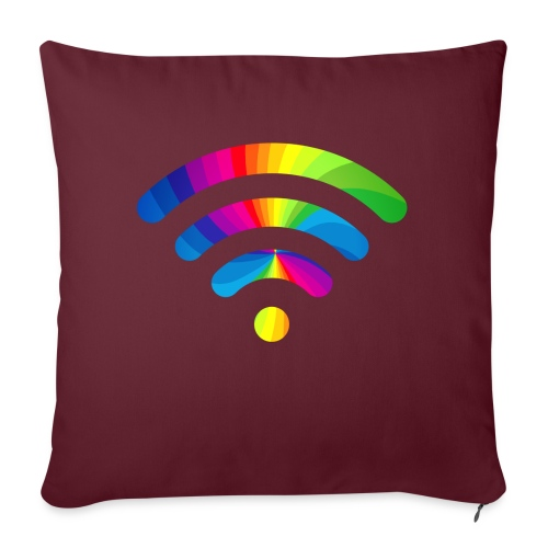 wifi signal rainbow - Sierkussenhoes, 45 x 45 cm