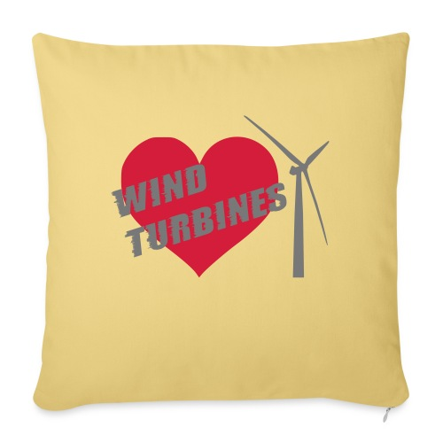 wind turbine grey - Sofa pillowcase 17,3'' x 17,3'' (45 x 45 cm)