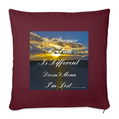 Just because my path - Sofa pillowcase 17,3'' x 17,3'' (45 x 45 cm)